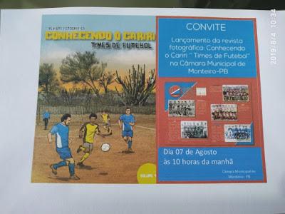 Câmara Municipal de Monteiro recebe lançamento da revista fotográfica CONHECENDO O CARIRI- TIMES DE FUTEBOL