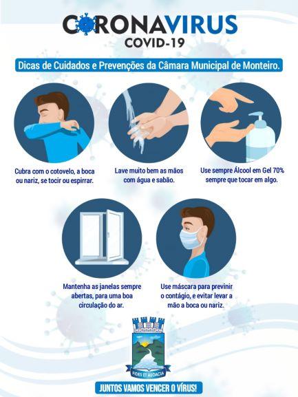 Câmara de Monteiro; orientação do COVID 19